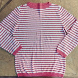 Striped Lambswool Blend Sweater